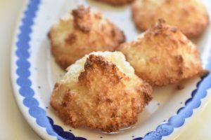Kokosmakroner - nemme og lækre - lavet af kun 3 ingredienser