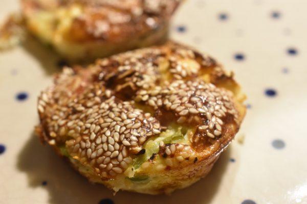 Æggemuffins med skinke, feta og peberfrugt - stop madspild