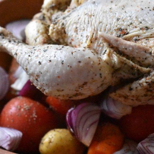 Kylling i stegeso med kartofler & tomat