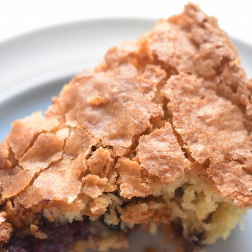Kage med kokos og blåbær – nem og SÅ lækker kokoskage
