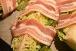 Spidskål med bacon - stegt i ovn. Nemt og lækkert