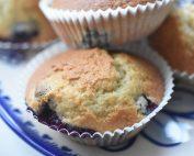 Muffins med blåbær og vanilje - nem opskrift