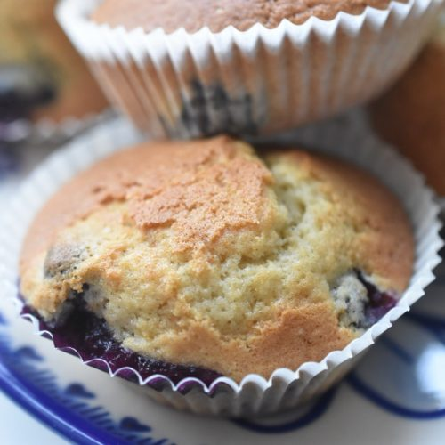 Muffins med blåbær og vanilje – nemme og SÅ lækre