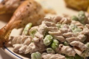 Pastasalat med edamamebønner - opskrift på grøn pastasalat