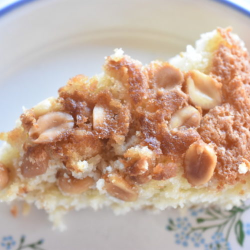 Kage med kokos og peanuts - nem opskrift