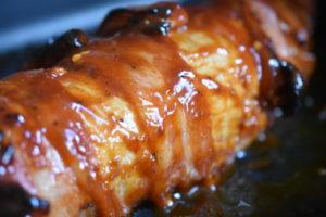 Svinemørbrad med bacon - glaseret