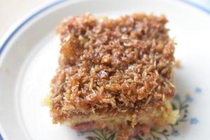 Drømmekage - nem og lækker opskrift med rabarber