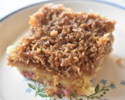 Drømmekage - nem opskrift med rabarber