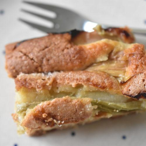 Rabarberkage - nem opskrift på kage med rabarber