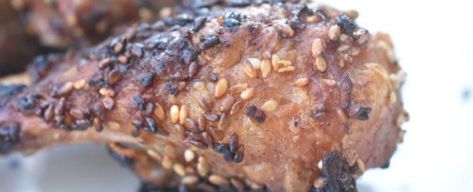 Kylling på grill - med røget paprika og sesamfrø
