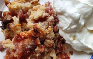 Figner - opskrift på figencrumble - en lækker kage