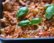 Kyllingelasagne - opskrift på kylling lasagne