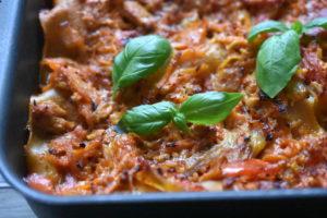 Kyllingelasagne - opskrift på lasagne med kylling