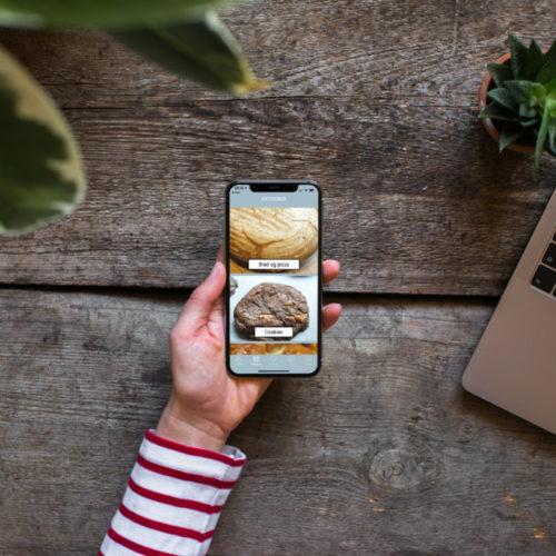 """App'en """"Noget i ovnen"""" som genvej til bloggen"""