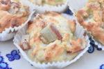 Muffins med rabarber - nem og fedtfattig opskrift