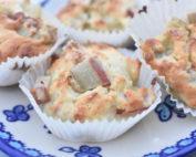Muffins med rabarber nem & fedtfattig opskrift