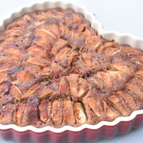 Æblekage med kanel og kokos lækker opskrift