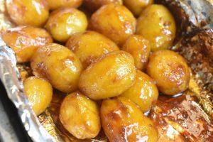 Brunede kartofler i ovn med farin opskrift