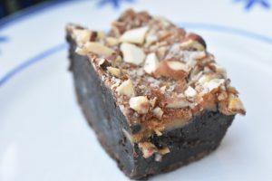Brownie opskrift med chokolade og karamel