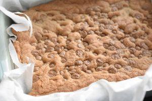 Cookie kage - opskrift med hvid chokolade