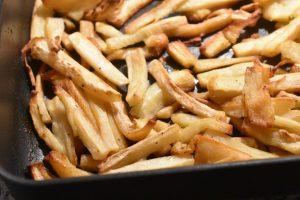 Pastinak i ovn rodfrugt pommes frites opskrift