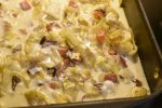 Æggekage i ovn med spidskål & creme fraiche