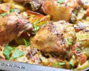 One Pot kylling med kartofler & fløde opskrift
