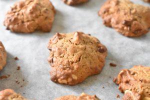 Peanutbutter cookies med chokolade  opskrift