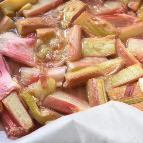 Bagte rabarber i ovn - rabarberkompot opskrift