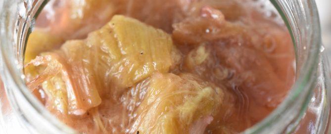 Rabarberkompot i ovn - bagte rabarber