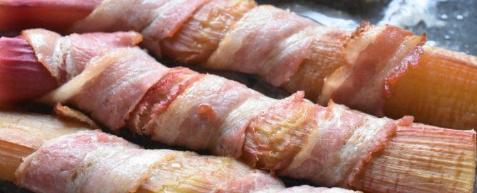 Rabarber med bacon opskrift til grill eller ovn
