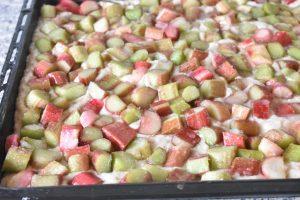 Rabarberkage i bradepande uden æg & smør