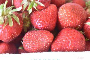 Makronsnitter med makroner og jordbær