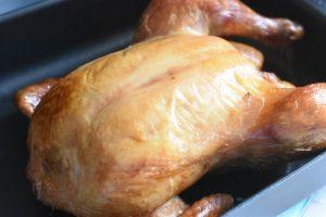 Røget kylling i ovn - hel ovnstegt kylling
