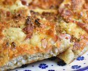 Deep pan pizza i bradepande - nem opskrift