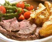 Ribeye steg i ovn - steaks stegt som hel steg