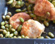 Kylling med edamame bønner i ovn - sund mad