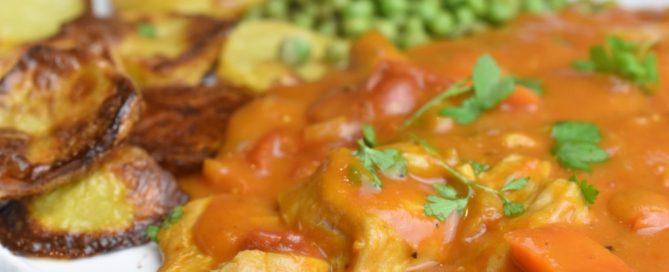 Paprikagryde med kylling og bacon - opskrift