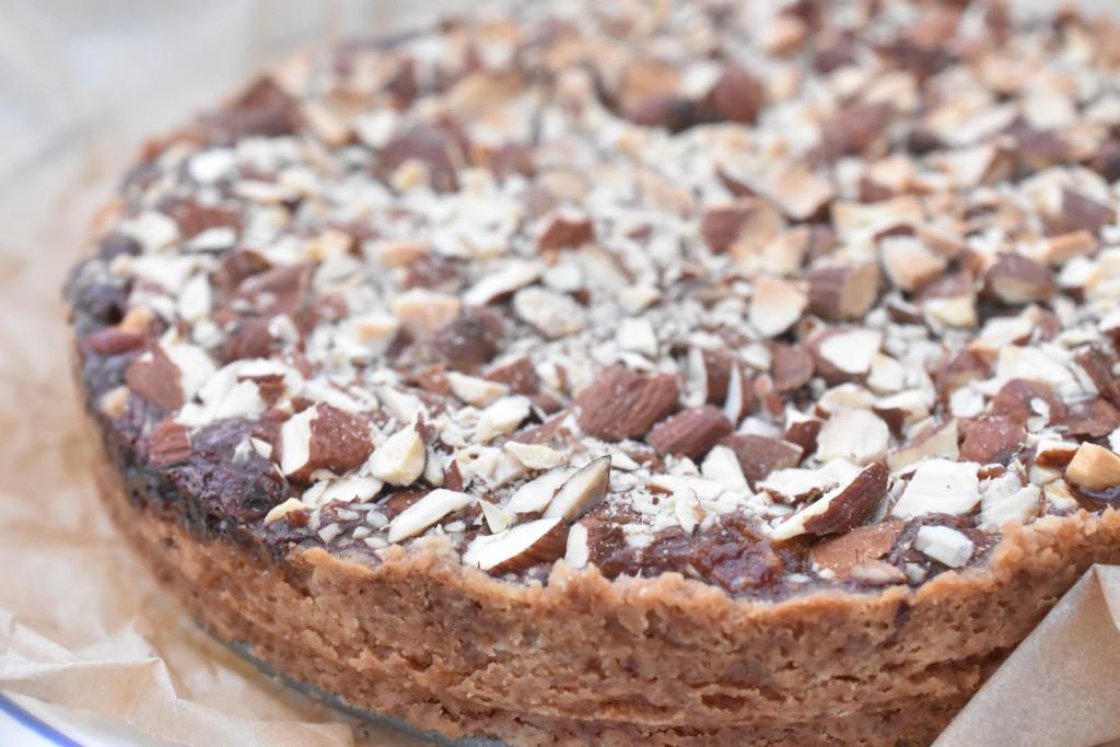 Mandelkage med karamel - nem lækker kage