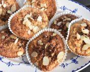 Havremuffins med æble & kanel - nem opskrift
