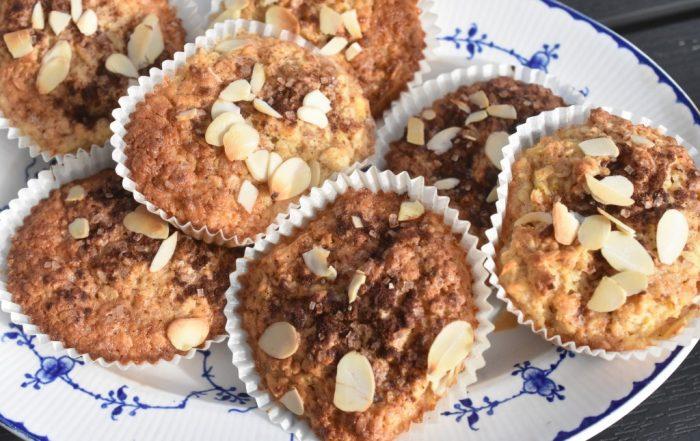 Havremuffins med æble og kanel - nem opskrift