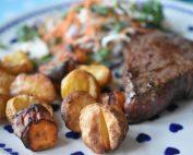 Gulerødder og kartofler i airfryer - opskrift