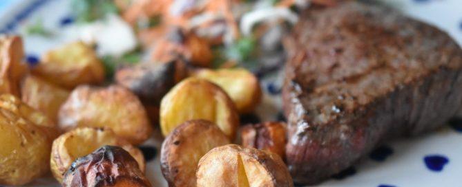 Gulerødder og kartofler i airfryer ell. actifry