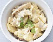 Kyllingesalat - nem opskrift med karry & æble