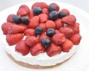 Cheesecake opskrift - nem ostekage med skyr