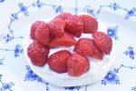 Marengs fuglereder med flødeskum & jordbær