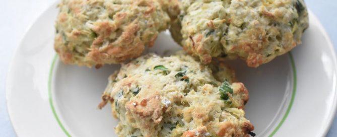 Scones med squash og ost - grønne scones