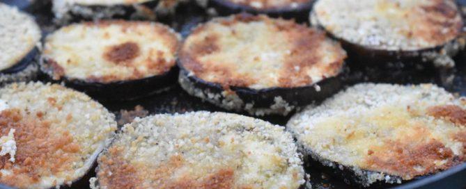 Stegt aubergine med rasp - paneret aubergine